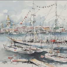 Celebration Of the Navy in St. Petersburg